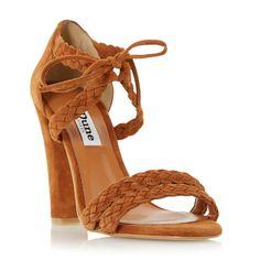 DUNE LADIES MARLEE - Plaited Strap High Heel Sandal - tan   Dune Shoes Online