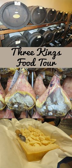 The Three Kings Food Tour covers three well known Italian food items.   It commences with a visit to the Parmigiano Reggiano factory, followed by the Parma Ham factory.  The day is broken up by lunch and there are several options for you to choose from. (at an additional cost)  In the afternoon, a visit to a Balsamic Vinegar producer rounds off a fantastic day.