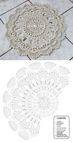 salfetka kover doily albom the best of patricia kristoffersen ltbrgt crochet homeltbrgt crochet rugsltbrgt crochet patternsltbrgt doiliesltbrgt the o - PIPicStats Crochet rug crochet carpet doily lace rug by eMDesignBoutique aa c doilies free This is the Motif Mandala Crochet, Crochet Diagram, Crochet Stitches Patterns, Crochet Designs, Crochet Tablecloth, Crochet Doilies, Crochet Flowers, Crocheted Lace, Crochet Carpet