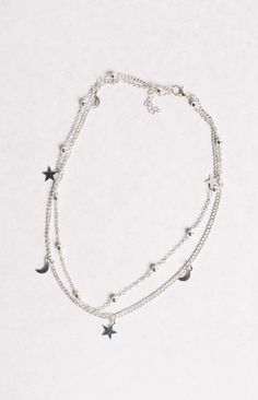 Silver Milky Way Two Chain Choker
