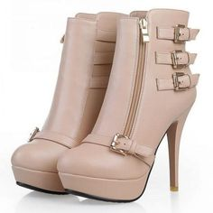 Classic Buckle&zipper Ankle Boot - http://stylishplus.com/
