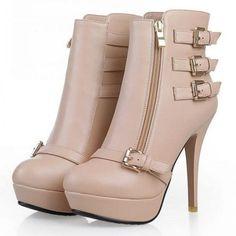Classic Buckle&zipper Ankle Boot - http://stylishplus.com/