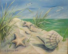Acrylmalerei - HOLIDAY MEMORIES II -KUNST MUSCHELN STRAND URLAUB  - ein Designerstück von acrylfee bei DaWanda
