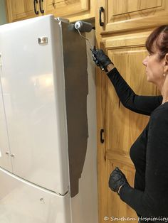 Painting a White Refrigerator with Liquid Stainless Steel - Refrigerator - Trending Refrigerator for sales. - Painting a White Refrigerator with Liquid Stainless Steel Southern Hospitality