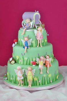 Flowers fairy Birthday Cake ♡