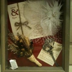 Shadow box of wedding memories!