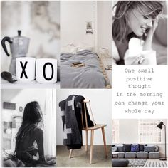 Positive thoughts in your home. Feminine Decor, Relaxation Room, Fashion Collage, Colour Board, My Mood, New Image, Positive Thoughts, Mood Boards, Positivity