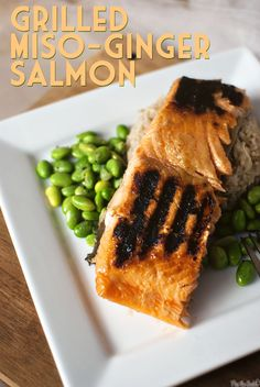 Grilled Miso-Ginger Salmon