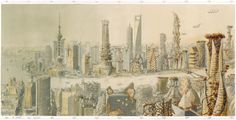Shanghai panorama by Luc Schuiten