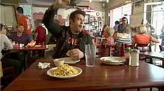 Juan in A Million, Austin, TX  Adam Richman of The Travel Channel's Man vs. Food sets his sights on Austin, Texas for a face to face with the Juan In A Million Breakfast Taco Challenge. See How Adam did against a whopping (8) Don Juan Tacos…