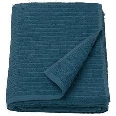 IKEA - Drap de bain VÅGSJÖN - bleu foncé, Longueur: 150 cm, Largeur: 100 cm, Superficie: m², Grammage: 400 g/m² Ikea Pax, Guest Towels, Bath Towels, Sophisticated Bedroom, Recycling Facility, Terry Towel, Textiles, Dark Blue, Tela