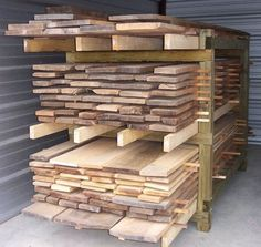 Pallet Lumber Sorting Rack Pallet Lumber Sorting Rack: As I mentioned in a pre Lumber Storage Rack, Lumber Rack, Wood Storage Sheds, Barn Storage, Wood Rack, Workshop Storage, Tool Storage, Woodworking Furniture, Woodworking Projects