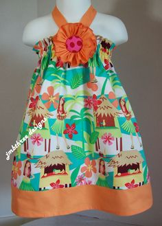 Hawaiian Hula Halter Top/Dress Toddler Infant by JMBthreedesigns, $35.00