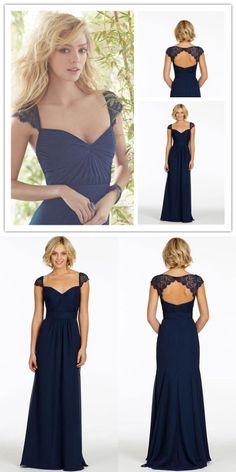 navy blue long bridesmaid dress, 2017 long bridesmaid dress, wedding party dress