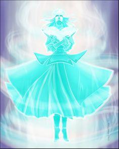 Kyoshi as the Spirit of Light by condemned2love.deviantart.com on @deviantART