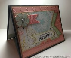 Card using See Ya Later and Sweet Sorbet from the Stampin' Up! 2014 SAB catalog by Emily Mark SU demo Montreal. www.southshorestamping.com