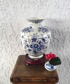 Zeldzame Delft vaas groot Delfts Blauw Vaas door GuamAntiquesNstuff
