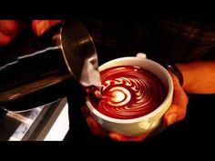Latte art(Bleeding Heart)2012/12/21 - YouTube