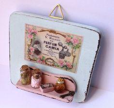 Shabby chic heart romantic vintage bathroom mint and pink handmade ♡ ♡