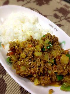久しぶりの平日料理! 昨日残ったパスタのトマトソースを転用。 - 6件のもぐもぐ - ドライカレー by yusukes