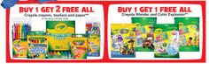 Wow! Toys R Us is offering up an awesome sale on Crayola products this week, available in-store only. Through 7/14, all Crayola crayons, markers and paper products are on a buy 1 get 2 FREE sale! Plus, all Crayola Wonder and Color Explosion products are on a buy 1 get 1 FREE sale. These sales [...]