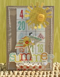 simple stories 100 days of summer card
