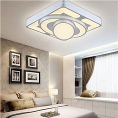 Pin by homelavafrfans on plafonnier moderne pinterest led modern simple fashion led acrylic white square flush mount light living room bedroom dining room study mozeypictures Image collections