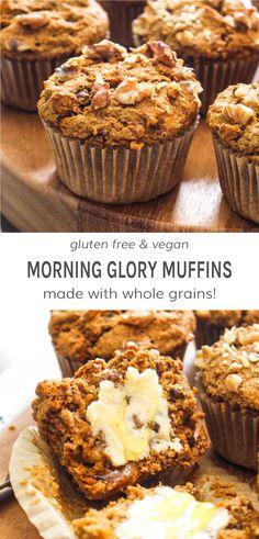 Naan Sans Gluten, Muffins Sans Gluten, Dessert Sans Gluten, Gluten Free Desserts, Dairy Free Recipes, Gluten Free Carrot Muffins, Morning Glory Muffins, Gluten Free Baking, Vegan Gluten Free