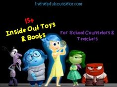 15+ Inside Out Toys & Books for Counselors & Teachers | The Helpful Counselor