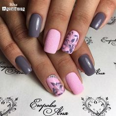 cute Spring Nail Designs – Pretty Spring Nail Art Ideas 2018 Best Picture For white nails For Your Taste You are looking for something, and it is Grey Nail Designs, Best Nail Art Designs, Nail Designs Spring, Cute Spring Nails, Spring Nail Art, Stylish Nails, Trendy Nails, Casual Nails, Toe Nails