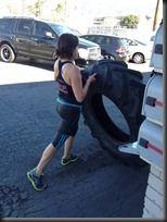 Spartan Chicks Tire Flipping!  *My pre-Spartan race workout.