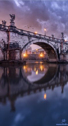 Twilight, Tiber River, Rome, Italy | by Rilind Hoxha on Flickr