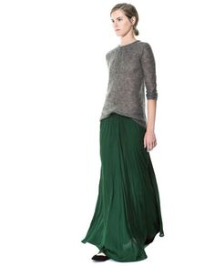 LONG FLOWY SKIRT - Skirts - Woman - New collection | ZARA Singapore