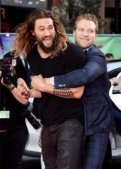 "dcfilms: ""Jason Momoa and Jai Courtney attend the European Premiere of 'Suicide Squad' at Odeon Leicester Square on August 3, 2016 in London, England. """
