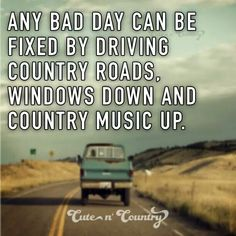 Makes me wanna take a backroad
