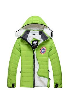 Canada Goose Camp Hooded Jacket Green Women's