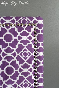 DIY dollar store pin board...use green fabric, put KD letters on top