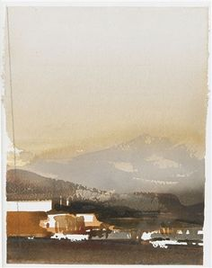 """bofransson: """" Lars Lerin - Morif from Lofoten """" Watercolor Artists, Watercolor Techniques, Watercolor Landscape, Art Techniques, Watercolor Paintings, Watercolours, Urban Landscape, Landscape Art, Lofoten"""