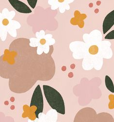 Home Logo Design Patterns Ideas Floral Illustrations, Illustrations And Posters, Surface Pattern Design, Design Patterns, May Designs, Retro Floral, Flower Patterns, Pattern Flower, Mandala Pattern