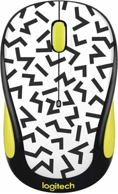 Logitech - Wireless Optical Mouse - Yellow zigzag - Front Zoom