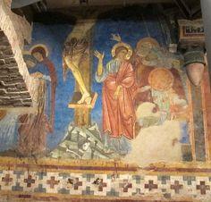 Artisti senesi 2° metà del '200 (Guido da Siena, Dietisalvi di Speme, Guido di Graziano, e Rinaldo da Siena) - Crocifissione - affresco - 1280 circa - Cripta del Duomo, Siena