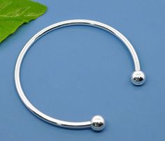 Silver Plated Cuff Bracelet  Fits European Style large hole beads by SmartParts, $3.99  for jewelry making, diy