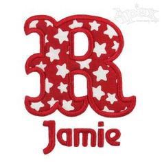 """Circus Applique Embroidery Design. Smaller font not included. Size: 2"""", 4"""" and 6"""""""