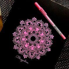 Pretty in Pink Mandala by @mandalabybhagya