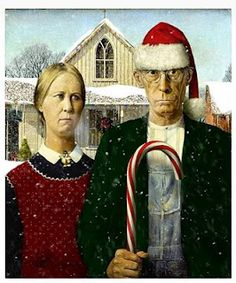 Merry Christmas American Gothic