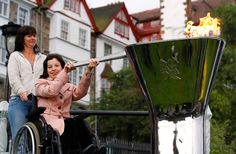 Edinburgh welcomes Paralympic flame,LONDON