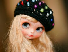 BLYTHE FASHION SERIES: Hat, beret for Blythe. Ready to ship. *** Regards, Aga You can order a larger or smaller. Please, write to me. :)