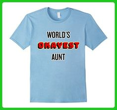 Mens World's Okayest Aunt T-shirt Small Baby Blue - Relatives and family shirts (*Amazon Partner-Link)