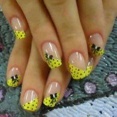 cute nail art - French tips Bow Nail Art, Cute Nail Art, Beautiful Nail Art, Gorgeous Nails, Love Nails, Pretty Nails, Colorful Nail Designs, Nail Polish Designs, Nail Art Designs