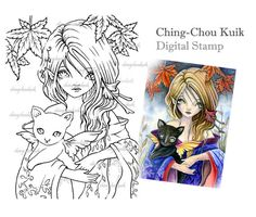 Autunno Fantasy - Download immediato di timbro digitale / arte di Ching-Chou Kuik
